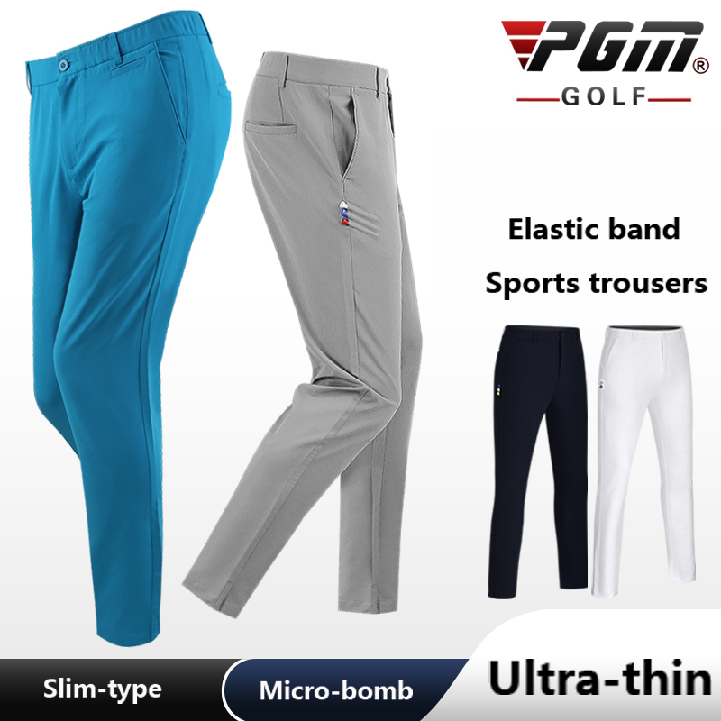 Men's Clothing Golf Long Pants Male Summer Breathable Quick-drying Trousers Waist Elastic Cante Ball Tee Slim Soft Comfortable