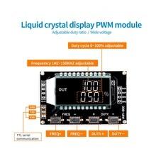 מחולל אותות PWM דופק מחזור תדר מתכוונן מודול LCD תצוגת 1Hz 150Khz 3.3V 30V PWM לוח מודול