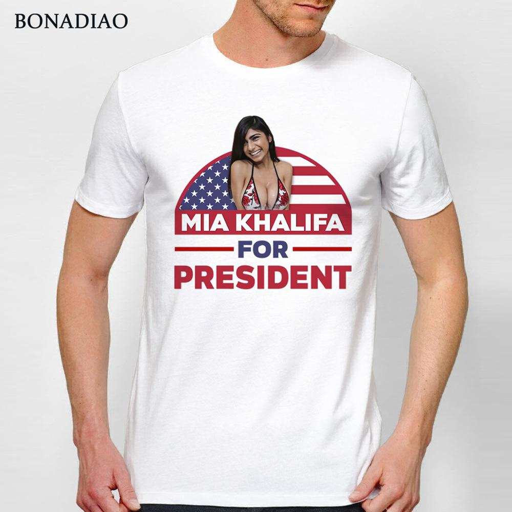 MIA KHALIFA FOR PRESIDENT T Shirt Sexy Porn Star Tees For Man Summer Cotton T SHIRT