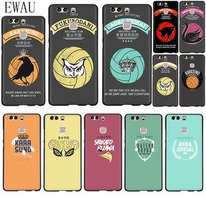 EWAU HAIKYUU!! Karasuno Nekoma Crest Soft Silicone phone case for Huawei P8 P9 P10 P20 P30 P40 Lite Pro P Smart Z plus