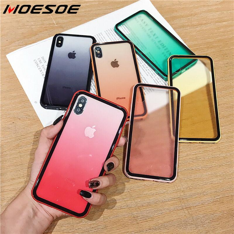 Luxury Transparent Gradient Phone Case For iPhone 11 Pro 8 7 6 6s Plus X XR XSMax Soft Candy Color Clear Back Cover Funda Capa