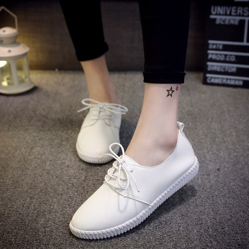 Womens Shoes 2020 New Ladies Vulcanize Shoes Fashion Sneakers Woman Low-cut Casual Loafers Korea Classics Best Sellers Promotion image