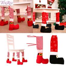 1pc Christmas Chair Leg Cover Table Decor Noel Navidad 2019 Decoration for Home Gifts Cristmas New Year 2020