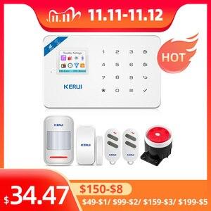 Image 1 - KERUI W18 홈 보안 Aalrm 시스템 WIFI GSM 무선 App 제어 1.7 인치 터치 키보드 패널 홈 보안 모션 알람 키트
