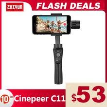 ZHIYUN 공식 CINEPEER C11 3 축 전화 짐벌 핸드 헬드 안정기 Vlog 스마트 폰 아이폰 11 12 XS 화웨이 Xiaomi 삼성