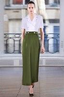 High quality OL elegant siamese trousers 2019 summer runways V neck Women Jumpsuits A694