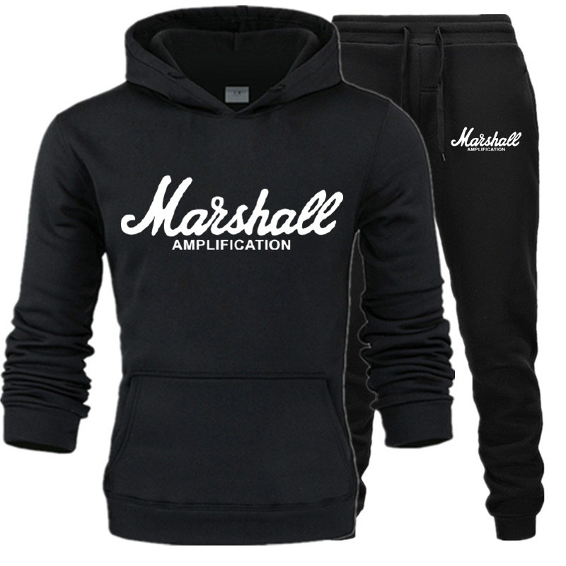 2019 New Printed Men Set Causal Patchwork Jacket Men 2Pcs Tracksuit Sportswear Hoodies Sweatshirt Pants Suit