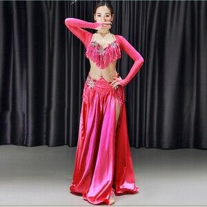Женщины Восточные танцы Платья Red Belly Dance Сексуальная кисточка Saidi Костюм Galabya Lingerie Royal Blue Dance Конкурсные костюмы