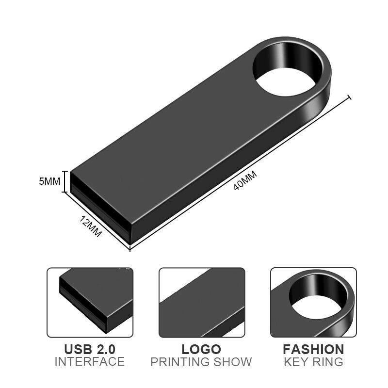 Sliver Golden Metalen Pen Drive 64Gb Usb Flash Drive 8Gb 16Gb 32Gb 128Gb Memory Stick flash Card U Disk 256Gb Pendrive 5
