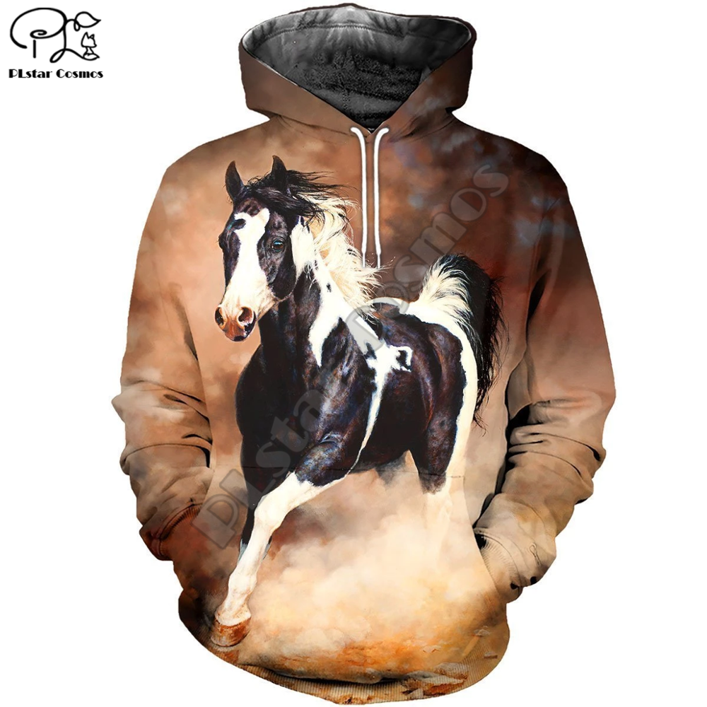 PLstar Cosmos Funny Animal Horse Colorful Casual New Fashion Tracksuit 3DfullPrint Hoodie/Sweatshirt/Jacket/Men Women s-5