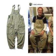 Multi-Pocket Bib Overalls Men Hip Hop Streetwear Cargo Work Pants Coveralls Men's Casual Loose Pant Bib Trousers