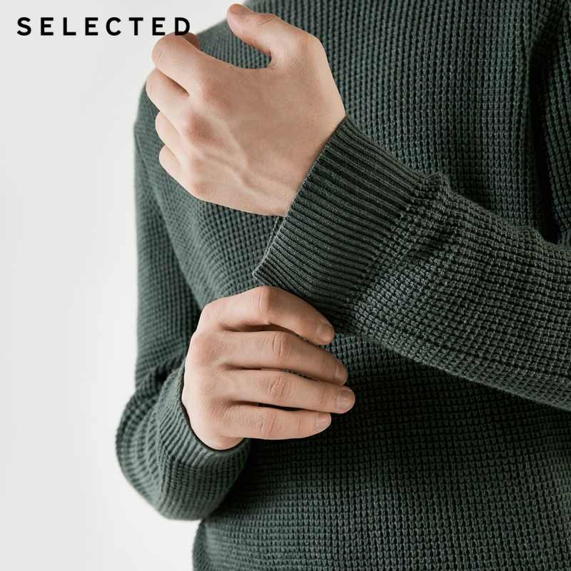 SELECTED Men's Winter Cashmere-blend Round Neckline Knitted Bussiness Casual Sweater S|418425531
