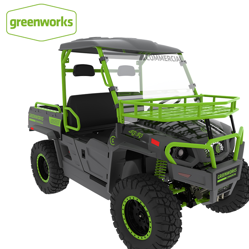 Greenworks New All Terrain Adaptation Multi-Function Off-Road Vehicle 82V Lithium Battery Driven Utility Vehicle Transport Car