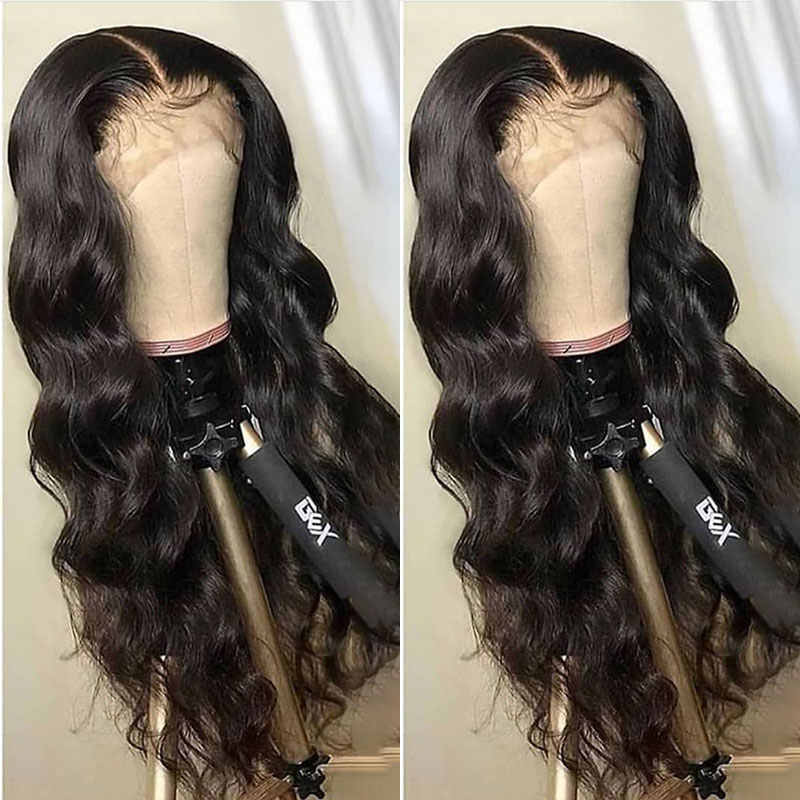 Body Wave 13x6 Lace Front Human Hair Wigs 250 Density 360 Lace Frontal Wig Pre Plucked Transparent Fake Scalp Wig Ever Beauty