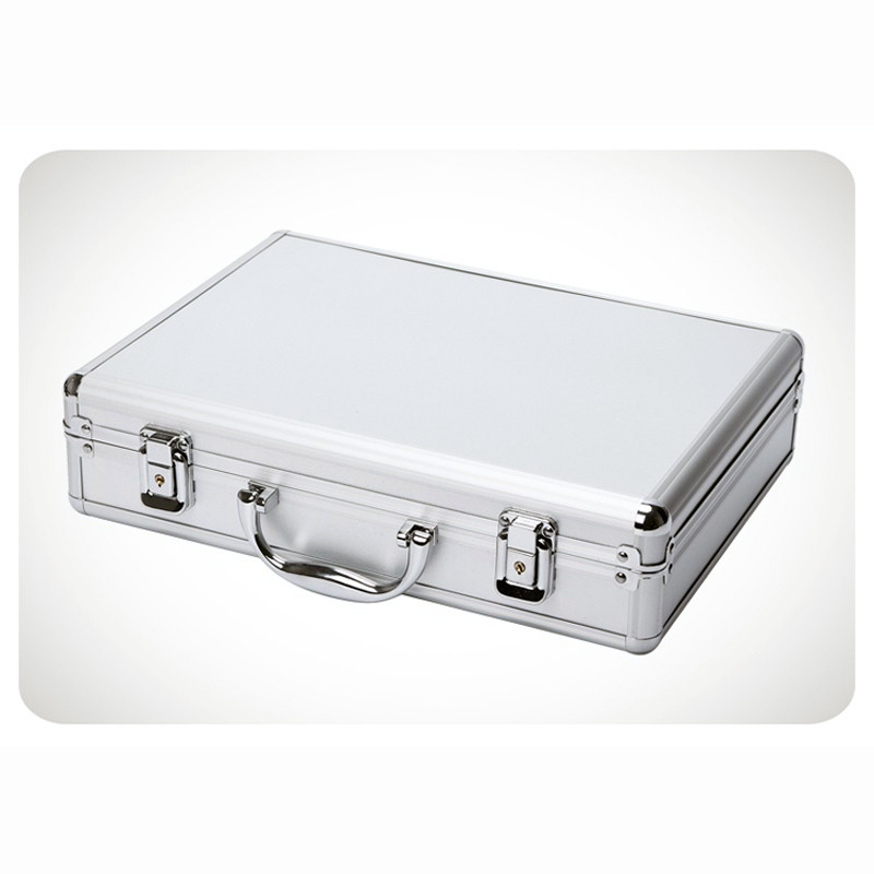 Купить с кэшбэком Aluminum Tool case suitcase toolbox password box File box Impact resistant safety case equipment camera case with pre-cut foam