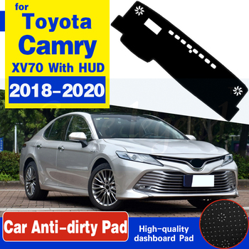 For Toyota Camry 70 XV70 2018 2019 2020 Anti-Slip Mat Dashboard Dash Cover Pad Sunshade Dashmat Protect Carpet Car Accessories image