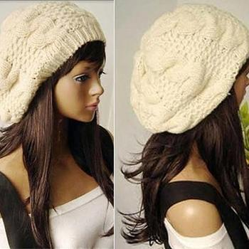 Cap Women Warm Casual Beanies Stripes Knitted Female Hat Autumn Winter Cap For Girl