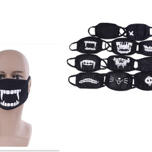 Hot Sale Black Cotton Bear Dustproof Mouth Face Mask Anime Cartoon Bear Women Men Sexy Party Mask Face Mouth Masks