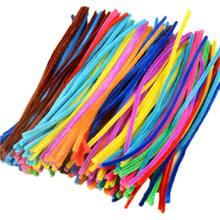 Haste limpadora de cachimbos de pelúcia, haste colorida diy, varas para limpeza de cachimbos, brinquedos educativos e artesanato para crianças, 100 peças