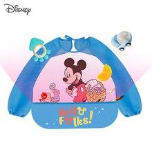 Baby Bibs Cloth Apron Feeding-Bib Smock Long-Sleeve Waterproof Child Disney Cute Mickey