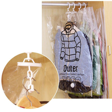 Vacuum Compression Storage Bag With Hook For Down Jacket Reusable Quilt Organizer Save Space Waterproof Can Be Hung Gadget Ow