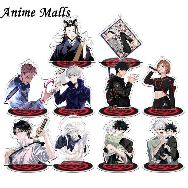 Anime Jujutsu Kaisen Acrylic New Yuta Okkotsu Gojo Satoru Figure Stand Model Plate Desk Decor Cosplay Collect Keychain