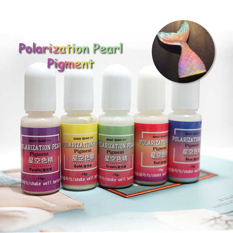 5colors Polarization Pearl Resin Dye Pigment Epoxy UV Resin Jewelry Making Tools DIY Craft Painting красители для слаймов