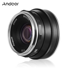 Andoer 35mm f1.6 수동 초점 렌즈 olympus epm2/E PL7/E PL8/E P5/E P6 M43 Mount 카메라와 호환되는 대형 조리개