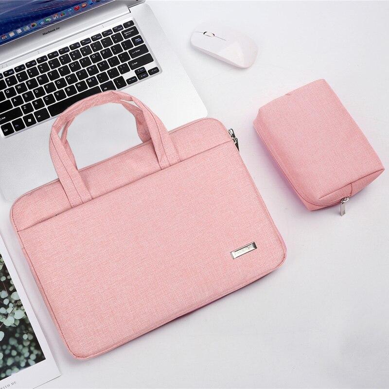 노트북 가방 11 12 13.3 14 15.6 Macbook Air Pro Xiaomi 컴퓨터 핸드백 서류 가방 여성용 16 인치 방수 노트북 슬리브