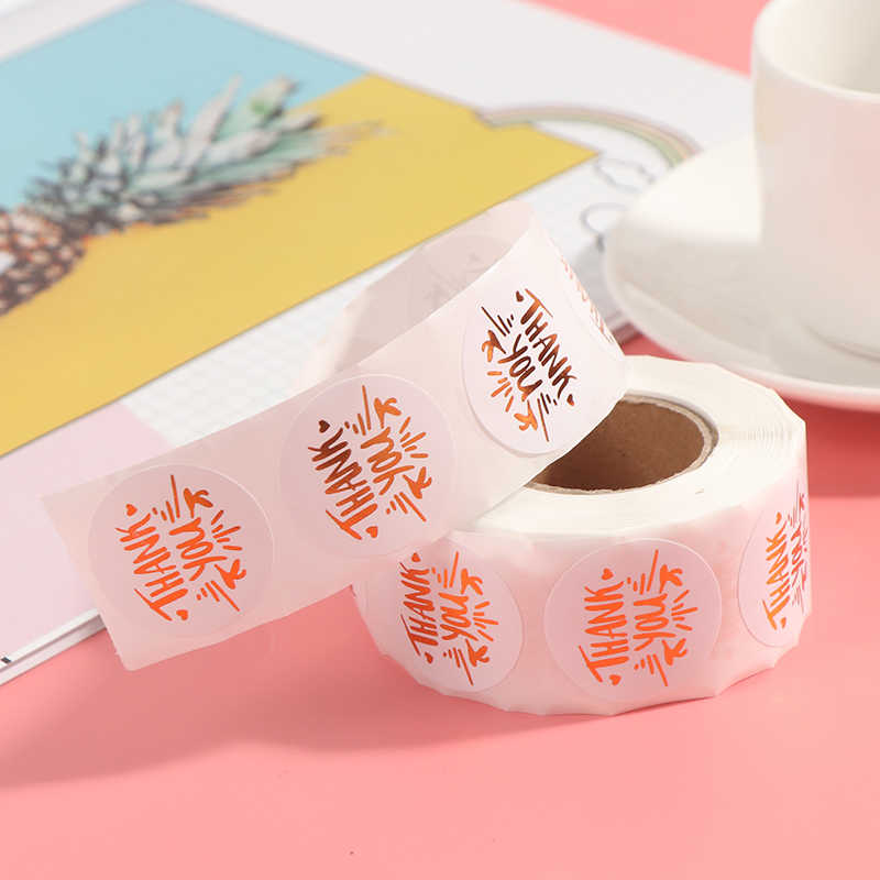 500Pcs/roll    Thank You Sticker For Seal Scrapbooking Christmas Sticke Decoration Sticker Stationery Sticker