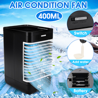 Draagbare Ventilator Airconditioner Luchtbevochtiger Luchtreiniger Desktop AC220V Mini Koelventilator Luchtkoeler Zwarte Fan Voor Camping Outdoor