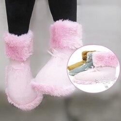 Elektryczne ciepłe buty na śnieg do trzymania z dala od mroźna zima buty miękki ogrzewacz do stóp podgrzewany elektrycznie but z USB akumulator Ogrzewacze do rąk Dom i ogród -