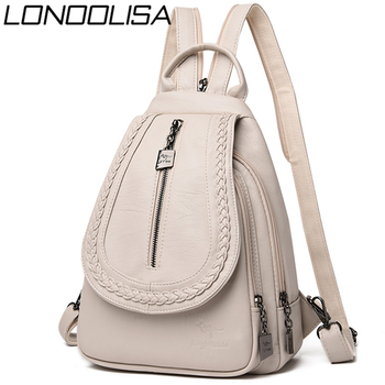 Women Leather Backpacks High Quality Female Backpack Chest Bag Casual Daily Bag Sac a Dos Ladies Bagpack Travel School Back Pack 2019 classic women leather backpacks for girls sac a dos female backpack college travel bagpack ladies back pack mochilas girl