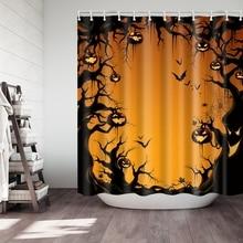 цена на Scary Night Waterproof Halloween Pumpkin Shower Curtains Polyester Fabric Shower Curtain Bathroom Fabric For Bathtub Art Decor