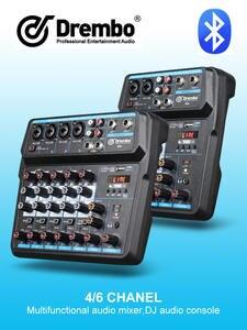 Debra PC Dj Console Recording Mini Mixer Sound-Card Audio Phantom Power M-4/6-Protable