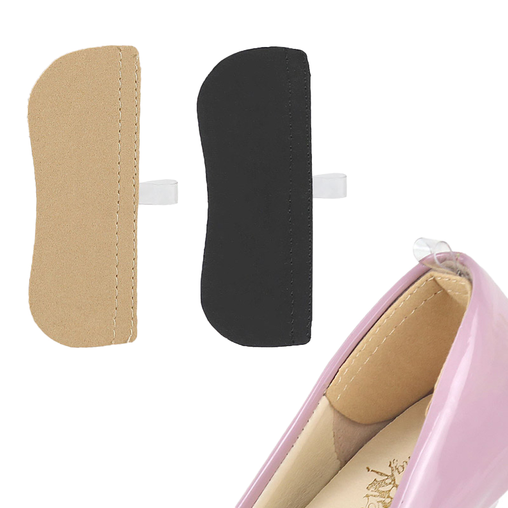 1 Pair Heel Cushion Pads Shoe Grips Liner Self-Adhesive Insoles Foot Care Protector