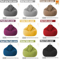 Sofas Cover puff Gigante Chairs Without Filler Linen Cloth Lounger Seat Bean Bag Pouf Puff Couch Tatami Pouf Salon Puff Asiento