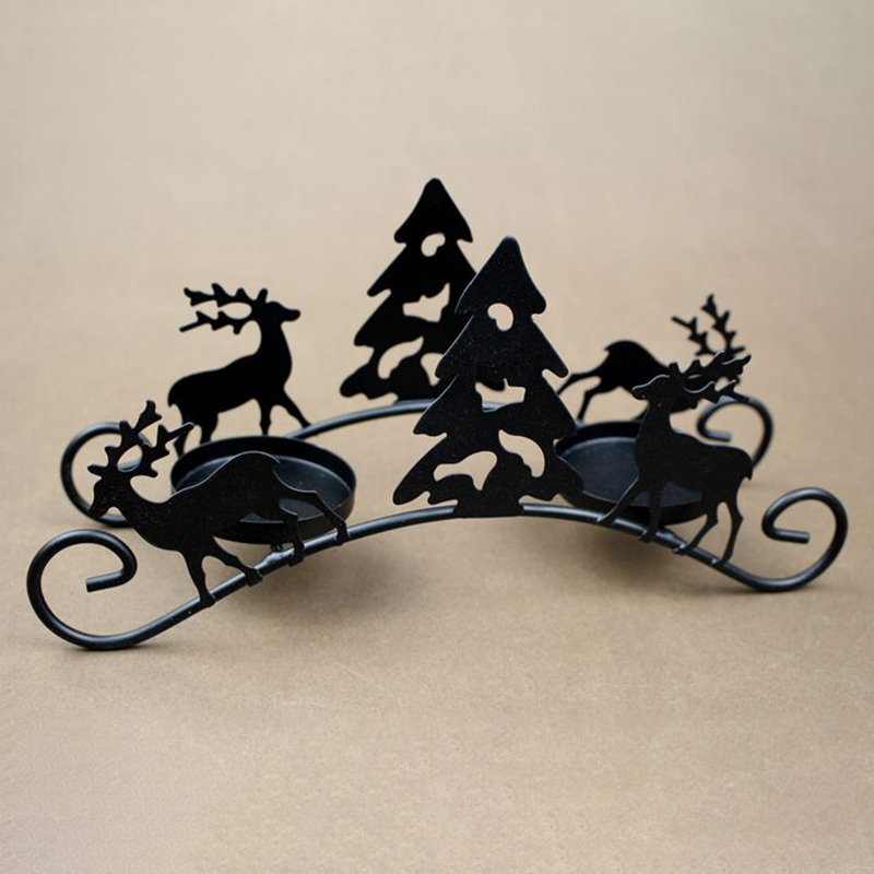 Christmas Candle Holders Creative European Iron Art Deer Christmas Tree Candlestick Christmas Decorations and Gifts|Candle Holders| |  - title=