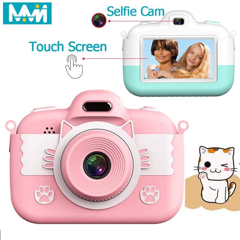 Мини-камера для детей 3,0 ''18 МП Full HD Цифровая камера Сенсорный экран ЖК-дисплей IPS дисплей для детей Образование подарок для мальчиков и девоч...