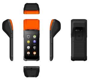 PDA Android Wifi pos-терминал 1D сканер штрих-кода ридер принтер 58 мм Термальный чековый Bluetooth прочный Ручной терминал система