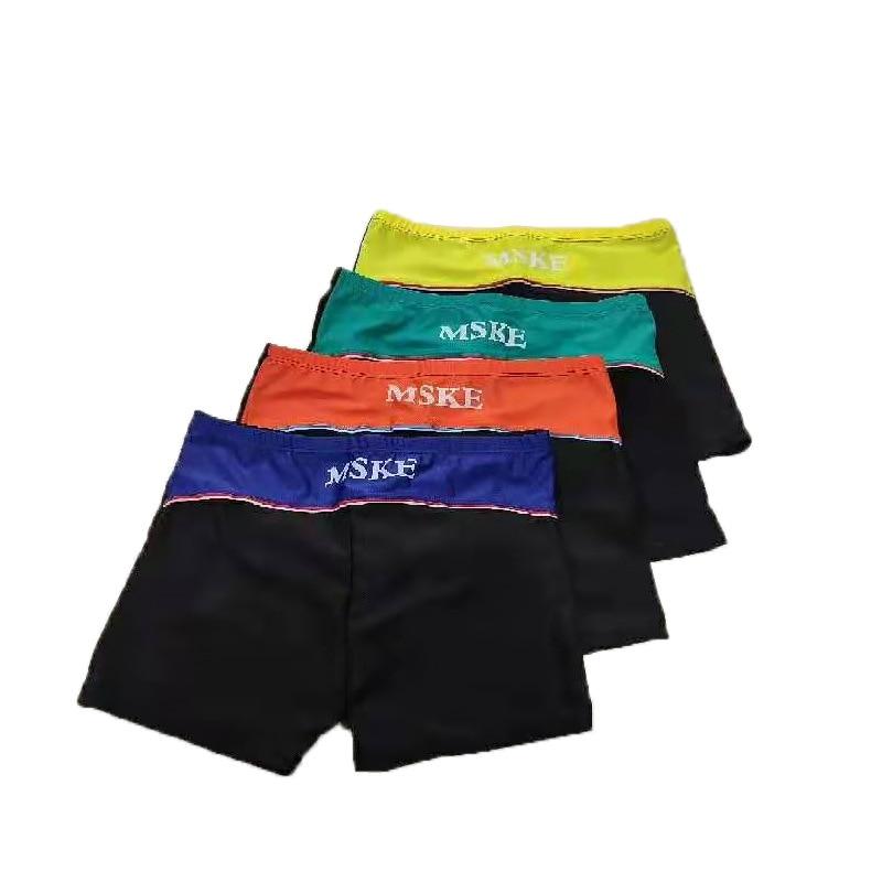 Swimming Trunks Men's Anti-Awkward Boxer MEN'S Swimsuit Quick-Drying Loose Version Of Air Show Men's Swimming Trunks Set Hot Spr