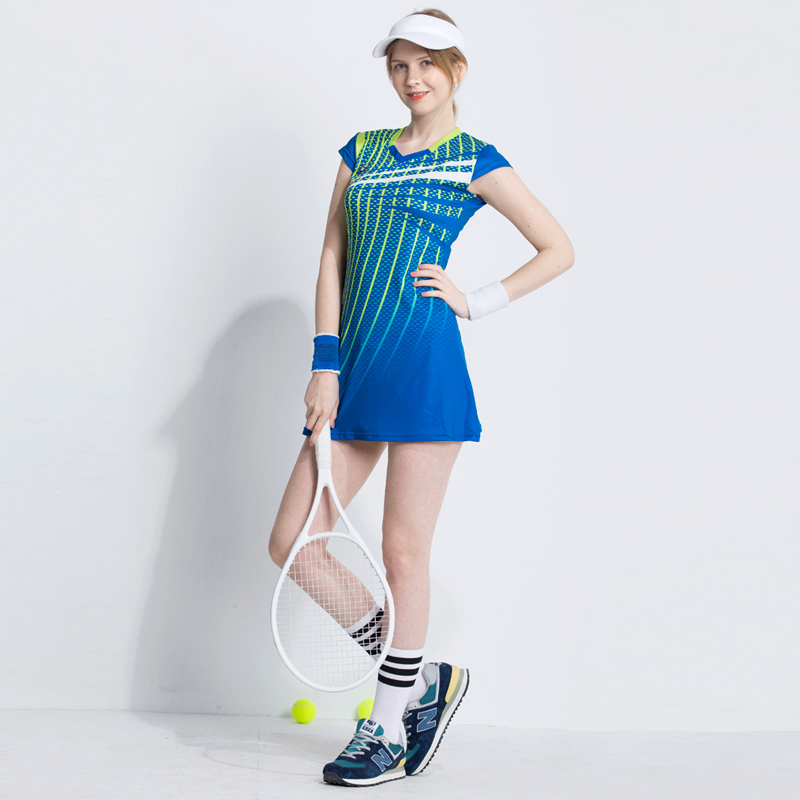 New Summer Badminton Wear Suit Female Tennis Sports Dress Was Thin Quick Dry Clothing