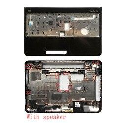 Capa para portátil para dell inspiron 15r n5110 m5110 39d-00zd-a00 capa de caso inferior com alto-falante/sem alto-falante & palmrest capa superior