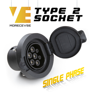 Image 1 - Morec AC Sạc Ổ Cắm 4 Điểm Cố Định Điện Ô Tô Xe Giữ Cáp Type2 1 Pha