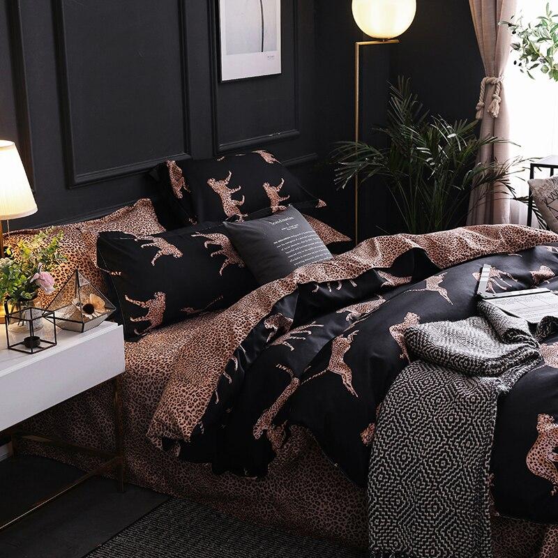 3pcs  Panther Luxury Duvet Quilt Cover Bedding Bedspread Modern Quilt Cover Bedding Quilt Cover Pillowcase Home Decoration
