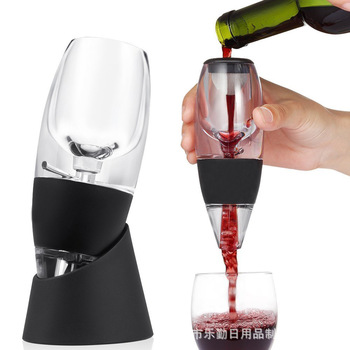 portable 2 in 1 ultrasonic electric high speed oxygenation wine decanter Wine Pourer Decanter Quick Aerating, Enhance Wine Flavors, Premium Aerating Decanter - for Business, Family, Banquet