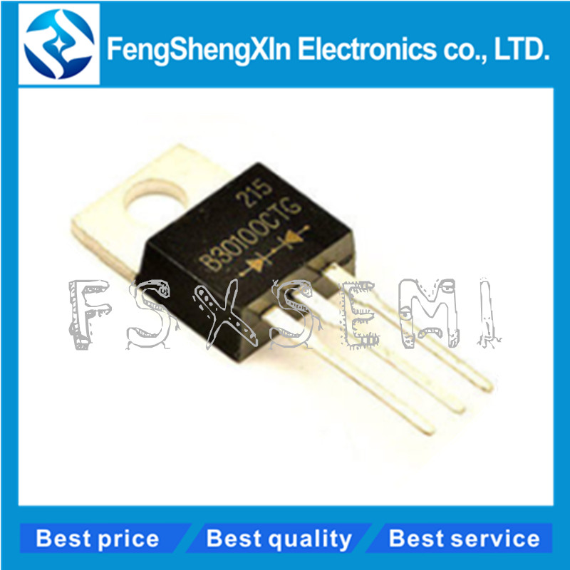 10pcs/lot MBR30100CT B30100G MBR30100 MBRF30100CT TO-<font><b>220</b></font> <font><b>30</b></font> Amp HT Power Schottky Barrier Rectifier 100 Volts to 200 Volts image