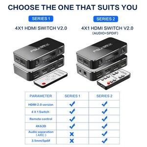 Image 5 - FSU HDMI Splitter 4อินพุต1เอาต์พุตHDMI HDR 4X1สำหรับHDTV PS4 4K Audio extractor 3.5แจ็คARC HDMI Switcher Adapter