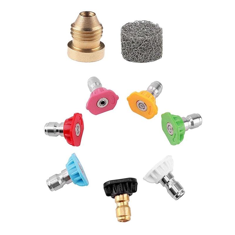 Foam Cannon Orifice Nozzle Tips With Pressure Washer Spray Nozzle Tips For Snow Foam Lance 1500 Psi 2000 Psi 2500 Psi 3000 Psi V|  - title=