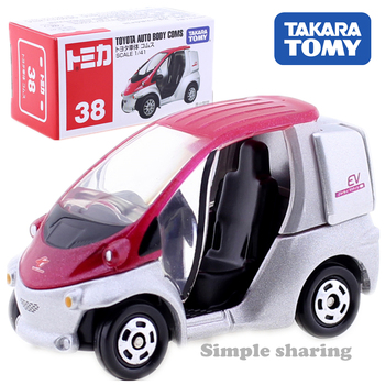 Takara Tomy Tomica No.38 Toyota Auto Body Coms Electric Car Scale 1/41 Hot Pop Kids Toys Motor Vehicle Diecast Metal Model New image